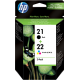 Cartouches encre Multipack HP 21 / HP 22 - SD367AE